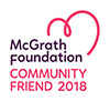 McGrath Foundation Community Friend 2018